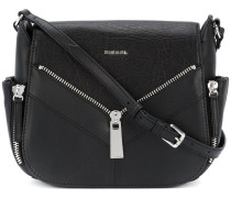zip applique satchel - women - Kalbsleder