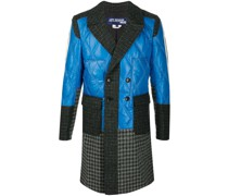 patchwork double breasted coat