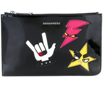 Clutch mit Punk-Patches