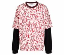 logo pattern layered T-shirt
