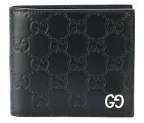 Portemonnaie mit eingeprägtem Monogrammmuster
