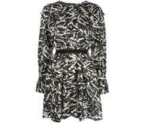 Minikleid mit Zebra-Print