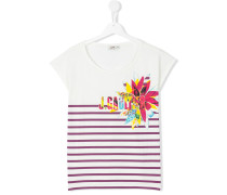 teen logo print stripe t-shirt - kids