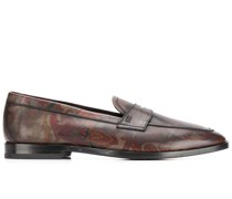 Penny-Loafer mit Paisley-Print