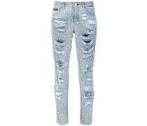 Jeans mit Perlenverzierung