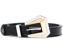 geometric buckle belt