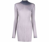 contrasting dye long-sleeved dress