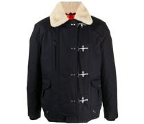 Gefütterter Mantel mit Hakenverschluss