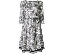 patterned pleated dress