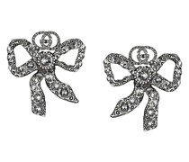 Schleifen-Ohrringe mit Kristallen