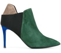 colour block stiletto boots