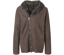 fitted shearling coat
