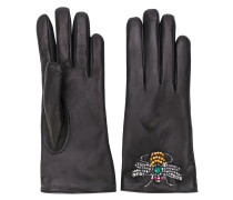 bee embroidered driving gloves