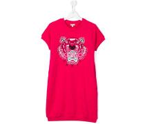 T-Shirt-Kleid mit Tigerstickerei