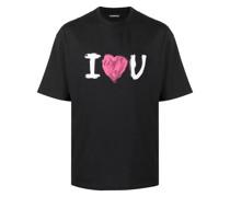 "T-Shirt mit ""I love You""-Print"