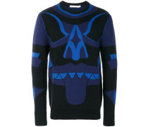 Wollpullover mit Totem-Muster