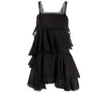 Popeline-Kleid mit Spitzenbesatz