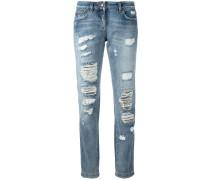 - Jeans in Distressed-Optik - women - Baumwolle