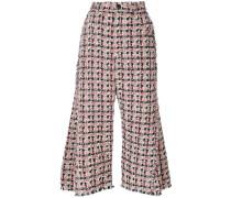 Tweed-Hose mit ausgestelltem Bein