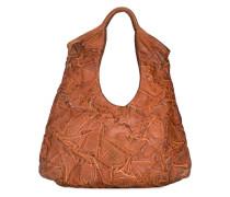 creased effect shoulder bag