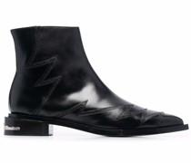 Chelsea-Boots mit Zickzackmuster