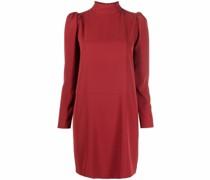 high-neck shift dress