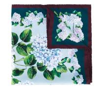 hydrangea print scarf - women - Seide