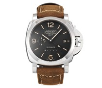 2020 Ungetragene Lumin 10 Days GMT Automatic Acciaio Armbanduhr, 44mm