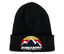 logo embroidered beanie hat - men - Wolle