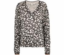 Wild Touch Pullover mit Leo-Print