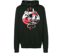 snake motif hoodie