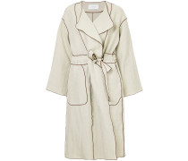 drawstring waist trench coat