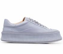 Flatform-Sneakers mit geriffelter Sohle