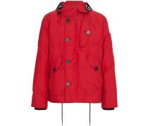 hooded velcro puffer coat