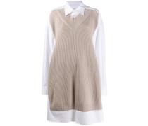 Hemdkleid mit Pulloverdetail