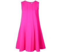 Swing-Kleid mit geripptem Detail