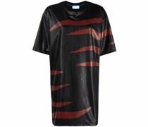 T-Shirtkleid mit abstraktem Print