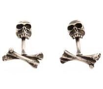 Manschettenknöpfe mit Totenköpfen aus Sterlingsilber