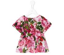 Kleid mit Rosen-Print - kids - Baumwolle