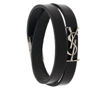 wrap around monogram logo bracelet
