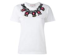 - T-Shirt mit Halsketten-Print - women