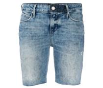 Shorts mit Stone-Wash-Effekt