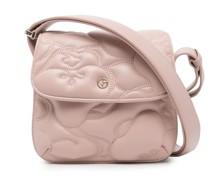 embossed leather satchel bag