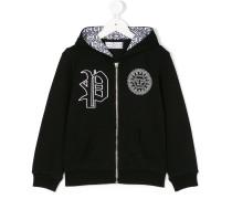 chest logo zipped jacket