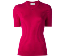 short-sleeve round neck knit top