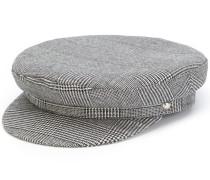 houndstooth baker boy hat