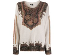 paisley-print knitted top