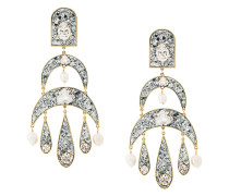 Half Moon pendant earrings