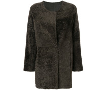 shearing collarless coat