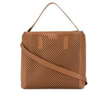 perforated top handle bag - women - Kalbsleder